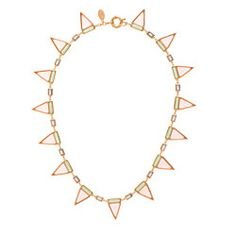 JENNIFER MEYER FOR J.CREW SARAH TRICOLOR TRIANGLE NECKLACE 338$ USD