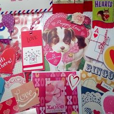 Valentine Ephemera - Paper Craft Kit Supplies for Card Making, Scrapbooks, Junk Journals, Collages - Mixed Lot of 64 Images and Craft Items Craft Kits, Craft Supplies, Paper Doilies, Sewing Material, Red Glitter, Love Cards, Folded Cards, Happy Valentines Day, Scrapbooks