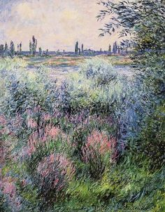 1881 Claude Monet (French Impressionist, 1840-1926) ~ 'A Spot on the Banks of the Seine'