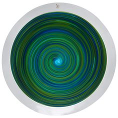 Italian Murano Gino Cenedese Signed Swirl Design Art Glass Charger | From a unique collection of antique and modern dinner plates at https://www.1stdibs.com/furniture/dining-entertaining/dinner-plates/