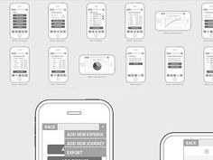 Dribbble - Iphone app Wireframes WIP by Ian James Cox