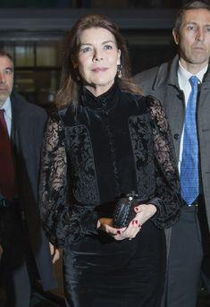 Carolina de Mónaco viste de 'glamour' su compromiso con AMADE