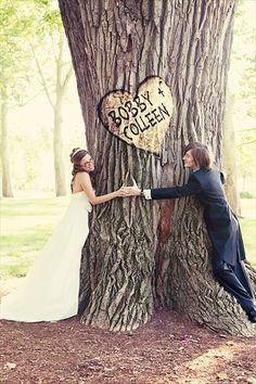 tree huggers...cute for engagement too
