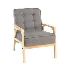 Baxton Studio Mid-Century Masterpieces Club Chair in Gray - Overstock Shopping - Great Deals on Baxton Studio Living Room Chairs