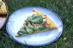 Vegan Apple, Spinach, and Pecan Pizza