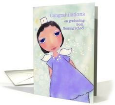 congratulations on graduating from nursing school, angel in scrubs card