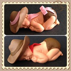 Sleeping baby cake topper on Etsy, $15.00