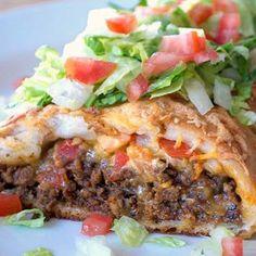 Taco Braid @keyingredient #cheese #tomatoes
