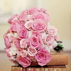 Pink Rose Bouquet: A mass of roses in shades of pink creates a sophisticated look.