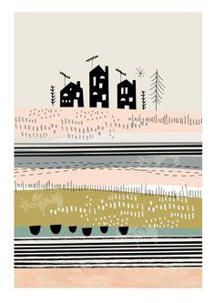 houses illustrations