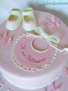 New cake desing compleanno bimba ideas Christening Cake Designs, Christening Cake Girls, Tortas Baby Shower Niña, Gateau Baby Shower, Creative Cake Decorating, Creative Cakes, Baby Shower Sheet Cakes, Baby Girl Cakes, New Cake