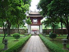 The Temple of Literature in Hanoi is a rare example of well preserved traditional Vietnamese architecture.