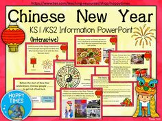 Chinese New Year information (zodiac, Nian, traditions, history)