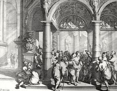 Phillip Medhurst presents John's Gospel: Bowyer Bible print 5413 Christ heals the man born blind John 9:1 Orley on Flickr. A print from the Bowyer Bible, a grangerised copy of Macklin's Bible in Bolton Museum and Archives, England.