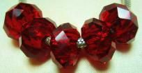 5 Dark Red  Chinese Crystal Glass Rondelle Beads Cable style about 14x8mm 5mm Hole $4.99 free shipping in USA