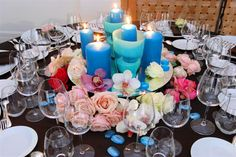 For a change, have blue candles!  Wedding by Monte-Carlo Weddings.