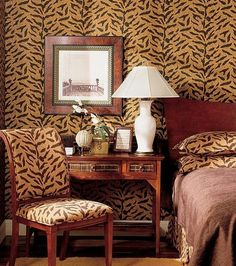 Animal Print Wallpaper With Matching Furniture Bedsheets But Individually Some Fun Ideas