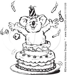 A Koala jumping out of a cake! My idea of a good time!