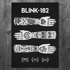 ". blink-182 x Tom Gilmour It was an honour to be asked to create this design for Blink 182's show in Grand Rapids, Michigan. A big thanks to blink-182, Hi My Name Is Mark, Travis Barker & Matt Skiba ""I will have a limited amount of these in my store..."