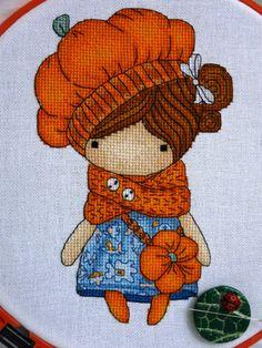 Easy Cross Stitch Patterns, Simple Cross Stitch, Cross Stitch Designs, Cross Stitch Embroidery, Hand Embroidery, Decoupage, Hobbies, Teddy Bear, Dolls