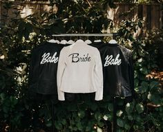 customized bridal party leather jackets // bridesmaids gifts + jackets for wedding