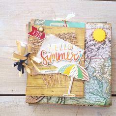 Mini Albums, Scrapbook, Vacation, Summer, Fun, Instagram, Decor, Vacations, Summer Time