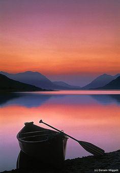 #calm #colors #canoe   Bennett Lake  British Columbia, Canada