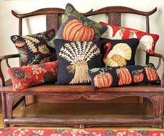 Napa Style~Autumn Hooked Pillows <3