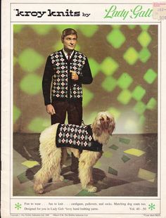 1969 Kroy Knits by Lady Galt Knitting Pattern Book - Matching Dog Coats, Sweaters, Cardigans to Knit