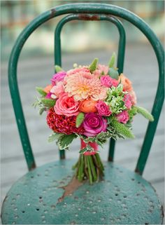 One of my bouquets was name in The Wedding Chicks 50 Blooming Beautiful Bouquets.  Mine is this one, #7 in the slideshow!