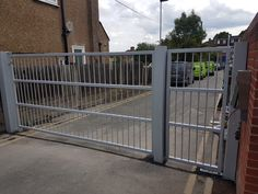 Security gates solution by RSG Security - including sliding gates for car-parks, palisade gates for schools, residential, commercial and industrial entry & access gates. Security Gates, Wimbledon, Car Parking, Deck, Home Appliances, Outdoor Decor, Safety Gates, House Appliances, Front Porches