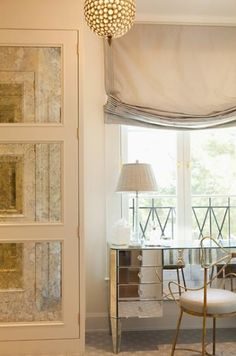 """Photo from """"Mirrored Furniture in Bedroom"""" by MMW, pinned by Rachel Richards, post by neverwithout."""