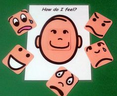 How do I feel? Board to help with expressing feelings.