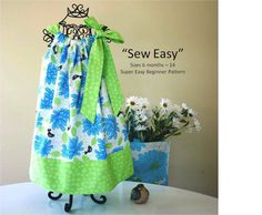 Sew Easy Pillowcase Dress Pattern by FootLooseFancyFree onEtsy