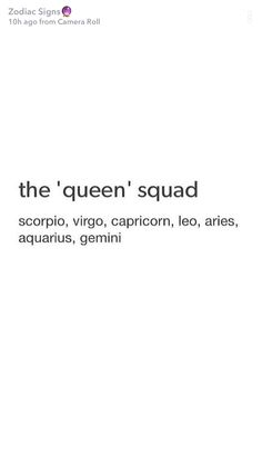 I 'm a combination of Capricorn and Scorpio. That means I am the top of the Queens !!