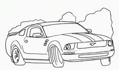 Mustang Coloring Page - GetColoringPages.com | 140x236