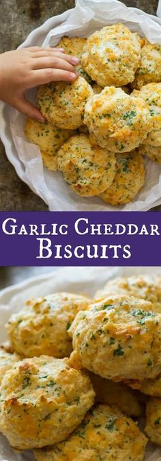 Biscuit Bread, Biscuit Recipe, Garlic Cheddar Biscuits, Cheddar Cheese, Garlic Cheese Bread, Quick Recipes, Cooking Recipes, Fall Recipes, Salads