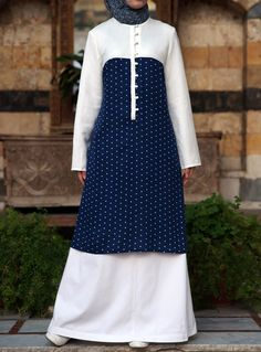 The Polka dots are so fun! A perfect summer long tunic from shukronline.com