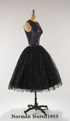 ретро платье Norman Norell 1955
