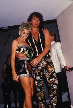 Pop singer Kylie Minogue and boyfriend Michael Hutchence, frontman of the band INXS, at the premiere of the film The Delinquents, Darling Harbour Convention Centre, Sydney, New South Wales, Australia, 1989, photograph by Mick Hutson.