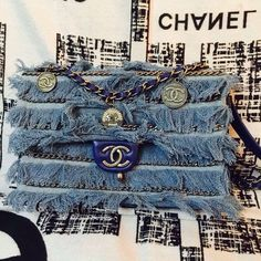 Chanel Denim Fringe Flap Bag Dubai-Themed Cruise 2015 for sale at https://www.ccbellavita.eu/products/chanel-denim-fringe-flap-bag-dubai-themed-cruise-2015