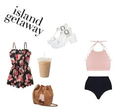 """""""Beach day"""" by swinterb on Polyvore featuring Hollister Co., Zimmermann, Marysia Swim and UGG"""