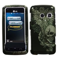 Design Hard Protector Skin Cover Cell Phone Case for LG Rumor touch/ Banter Touch LN510 Sprint,Virgin Mobile,MetroPCS,U.S. Cellular - Skull Wing - Hard Protector Skin Cover Cell Phone Case protects the body of your phone while providing unobstructed access to your phone. The two-piece protector case snaps securely onto the front and back of your cell phone. The rubber coating makes the case much more durable in comparison with other protector cas...