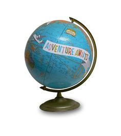 Custom globes...could show the Istan's journey together, do small globes with different cities highlighted as table numbers