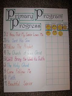 SINGING TIME IDEA: Primary Singing Ideas: progress chart