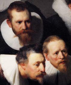 Rembrandt, Lección de anatomia del Dottor Tulp (detalle)