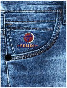 Fendi, Denim Jeans, Biker, Logo Design, Pocket, Lifestyle, Pants, Men's Bottoms, Tags