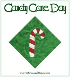 National Candy Cane Day Wonderful history of this Christmastime tradtion... It began in the Cologne Cathedral in Germany, because the choirmaster needed something to keep the child singers quiet during the long service. Credit for the bend at the top goes to him, too. He thought it would look like a shepherd's crook. #quilting #NationalCandyCaneDay #MyNationalDayQuiltChallenge