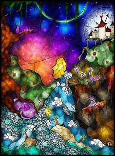 Wonderland painting by Mandie Manzano.