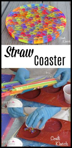 Learn how to make a Resin Straw Coaster! You are in the right place about recycled craft Here we offer you the most beautiful pictures about the recycled … Learn how to make a Resin Straw Coaster! Diy Resin Art, Diy Resin Crafts, Recycled Crafts, Crafts To Sell, Coaster Crafts, Diy Coasters, Beaded Beads, Diy Straw, Resin Tutorial